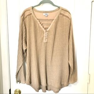 Great Northwest Indigo Women's Plus Size 3X Tan